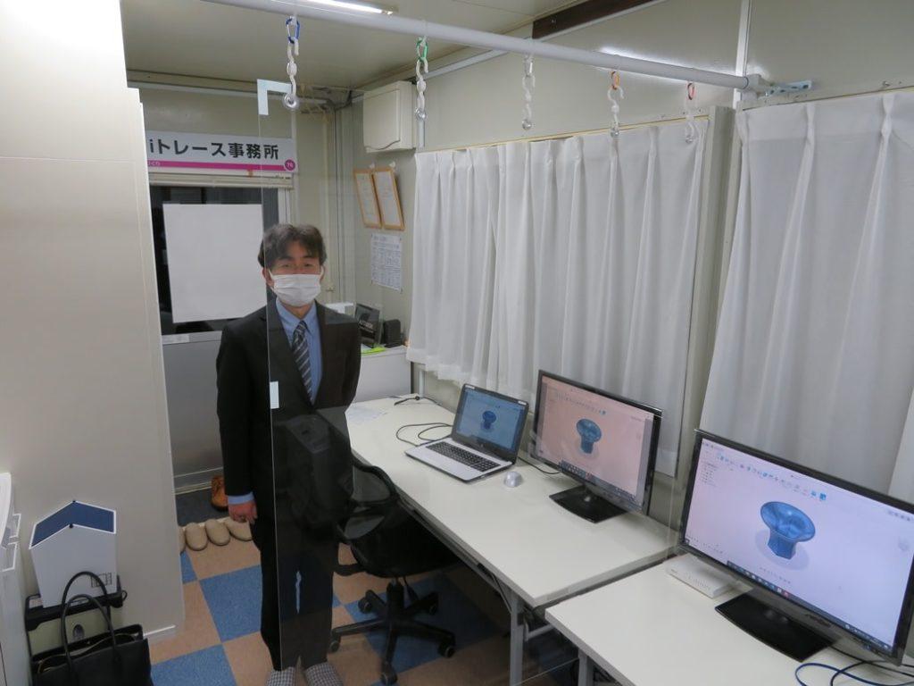 郡山CAD教室では、飛沫防止用パネルを設置しています