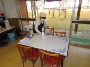 太田屋旅館ではお客様が退店した後に、徹底した除菌を行っております