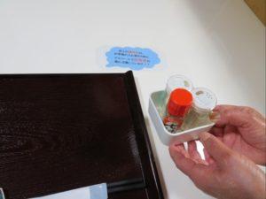 そば家やまきでは卓上調味料の都度入れ替えを実施しております